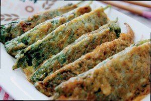chives pancake