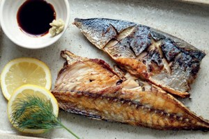 grilled saba fish